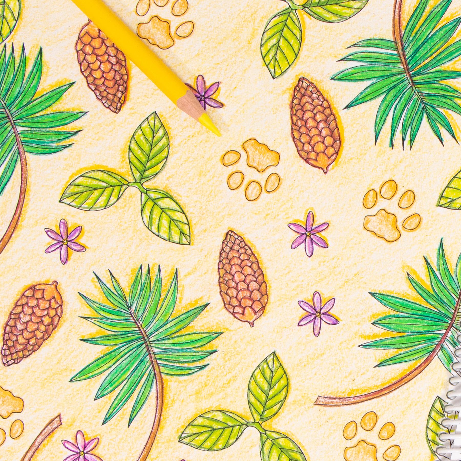 Pine Pattern coloring page Wild Florida