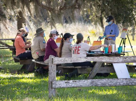 Ranger and volunteer class at Kissimmee Prairie Preserve State Park