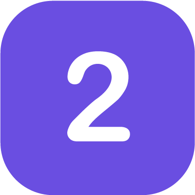 Number '2' in purple background