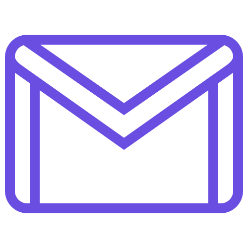 email symbol in white background