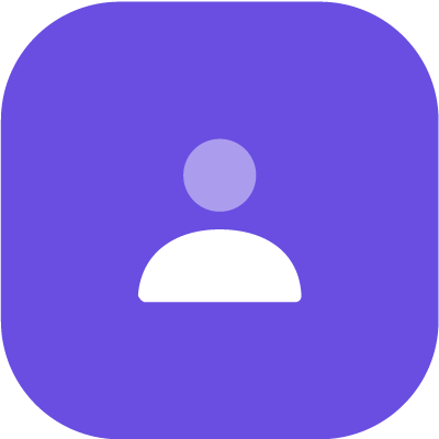 Individual profile icon in purple background
