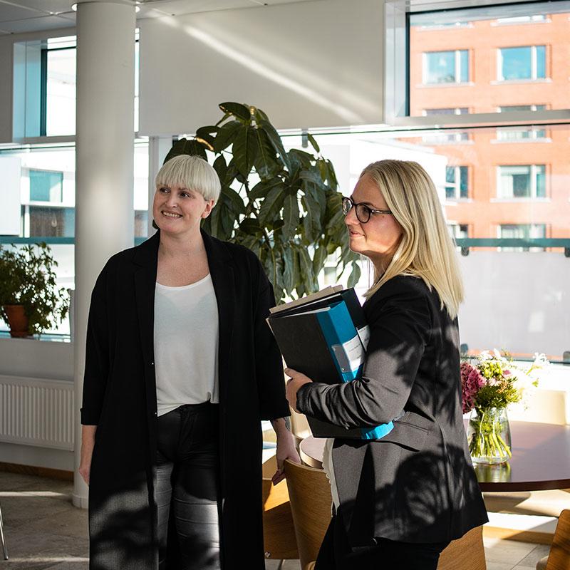 Kvinnliga medarbetare på Nordbro