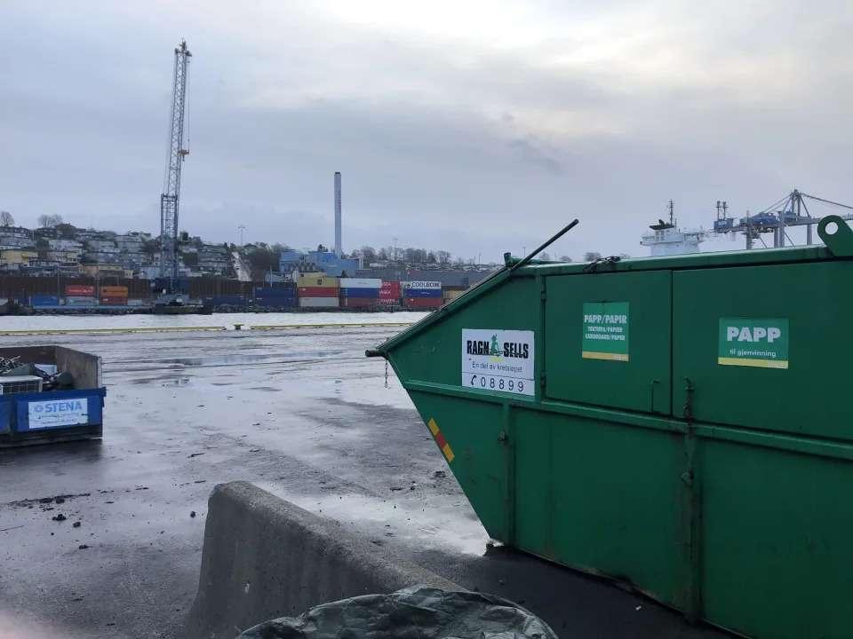 Bilde av avfallscontainer