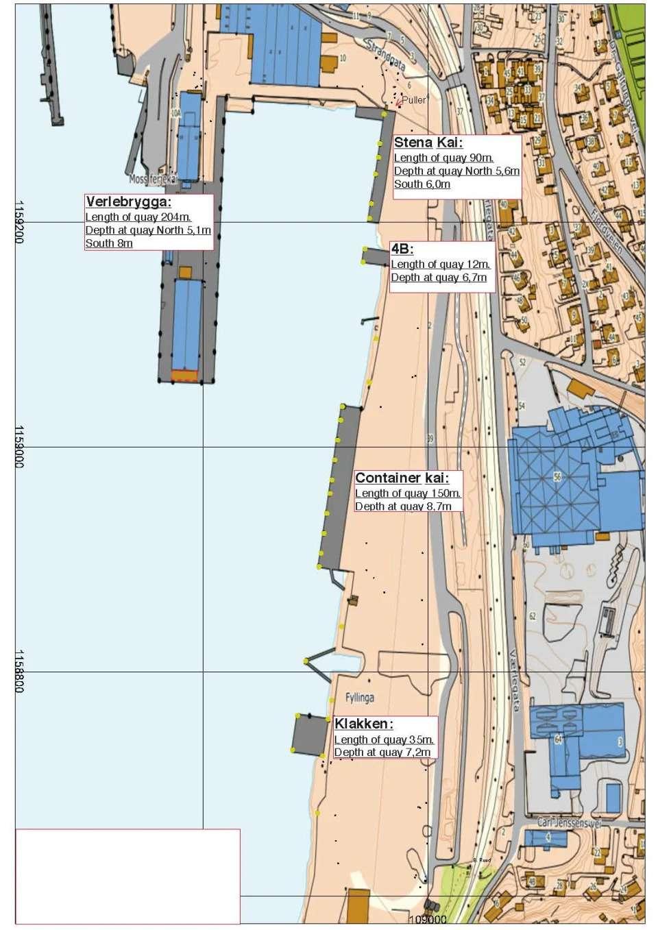 Kart over kaier