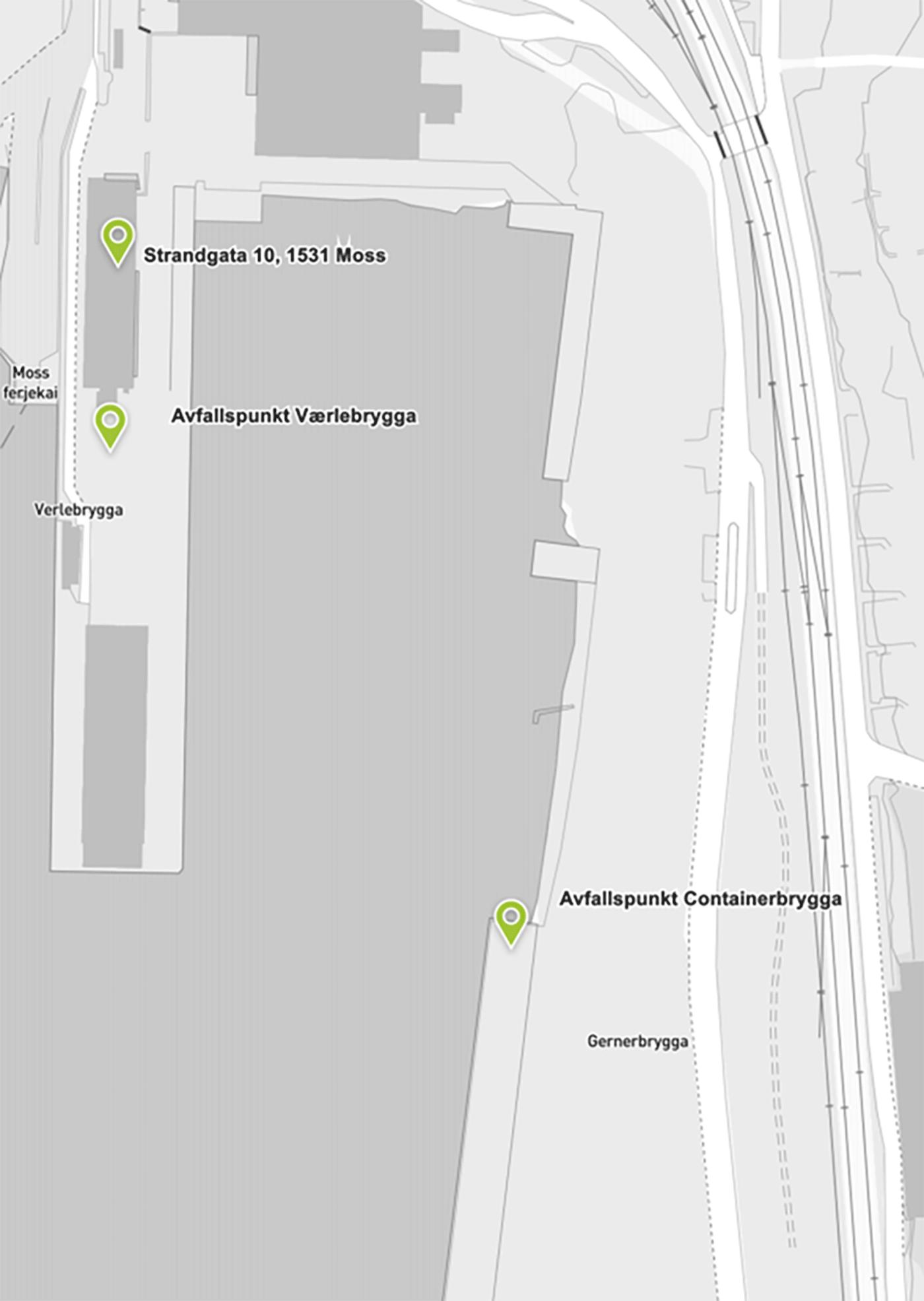 Oversikt over avfallspunkt i kart