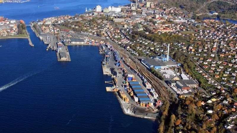Utsikt over havnen