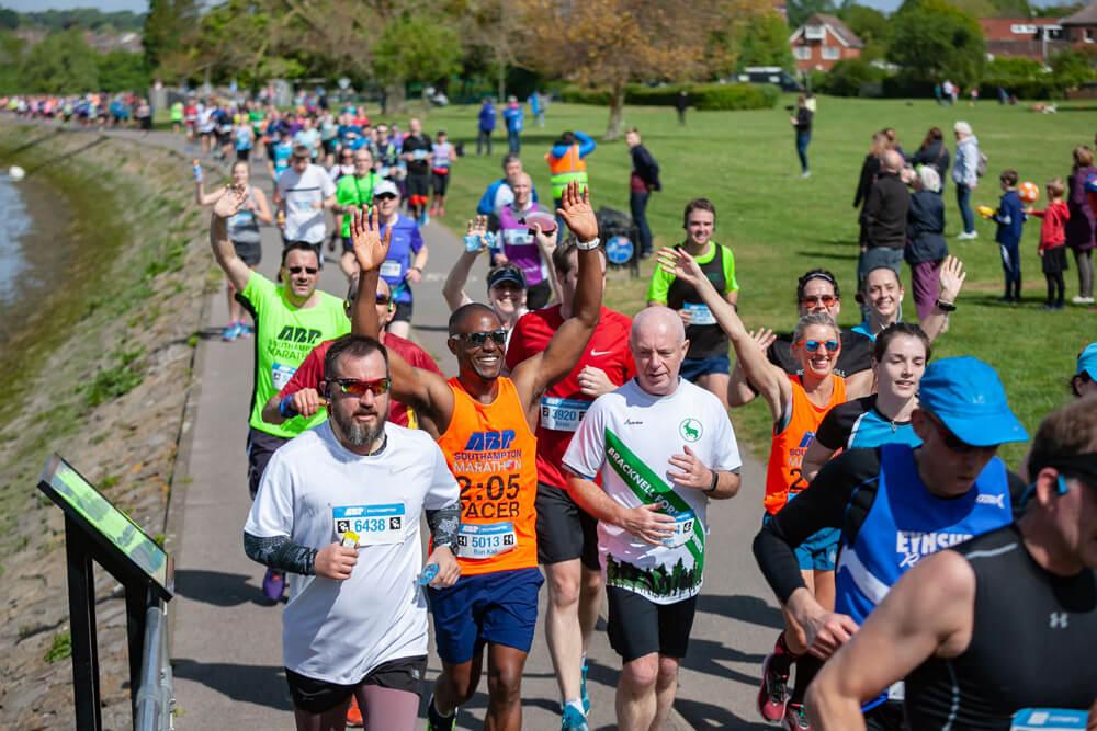 Runners running a marathon