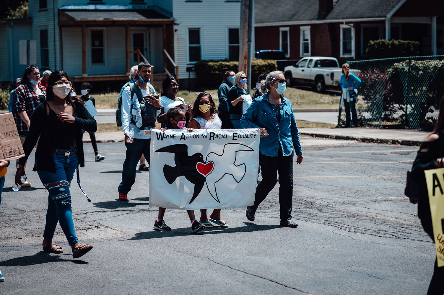 WARE marches in support of Black Lives Matter (June 2020).