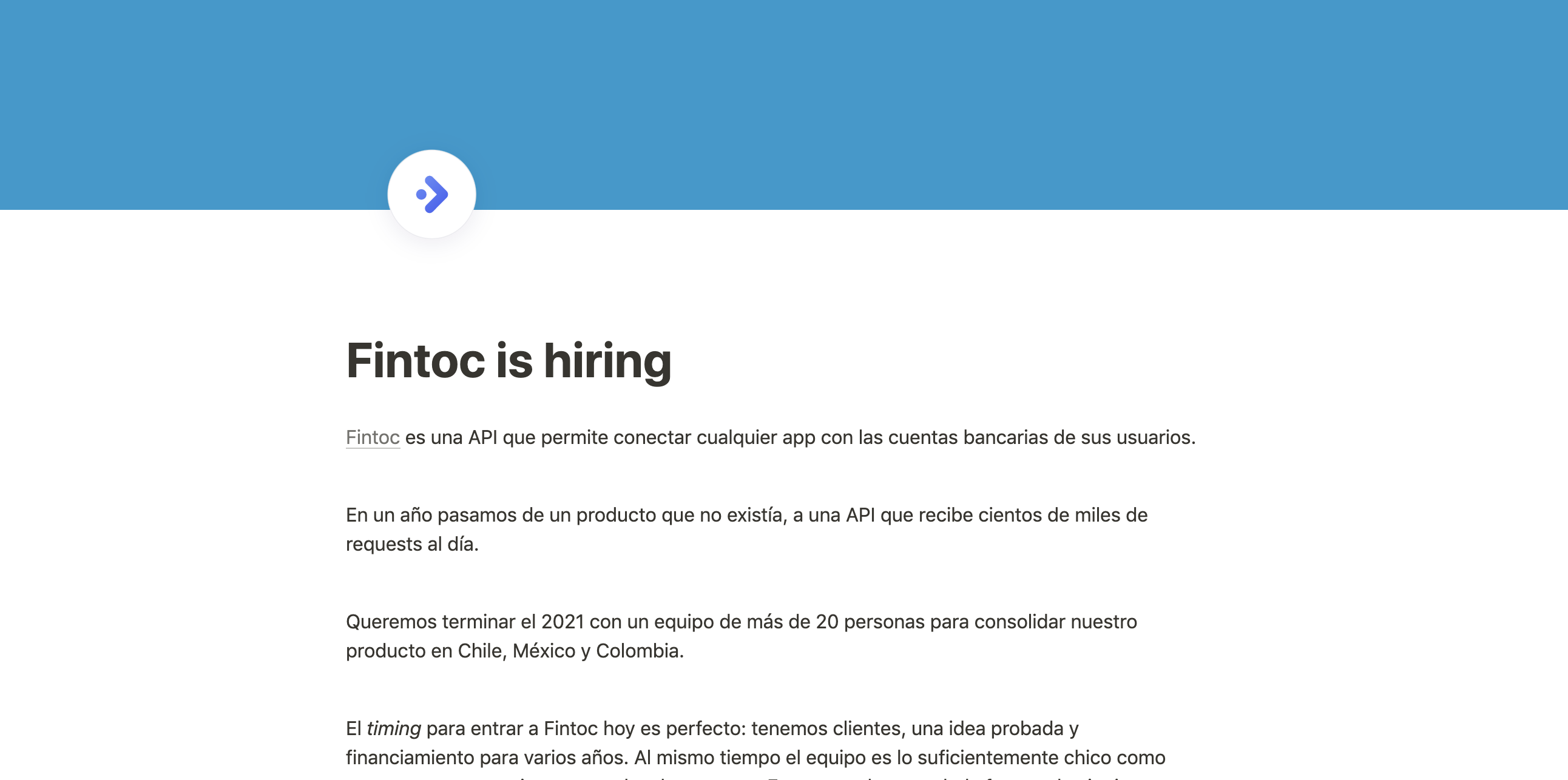 Fintoc is hiring!