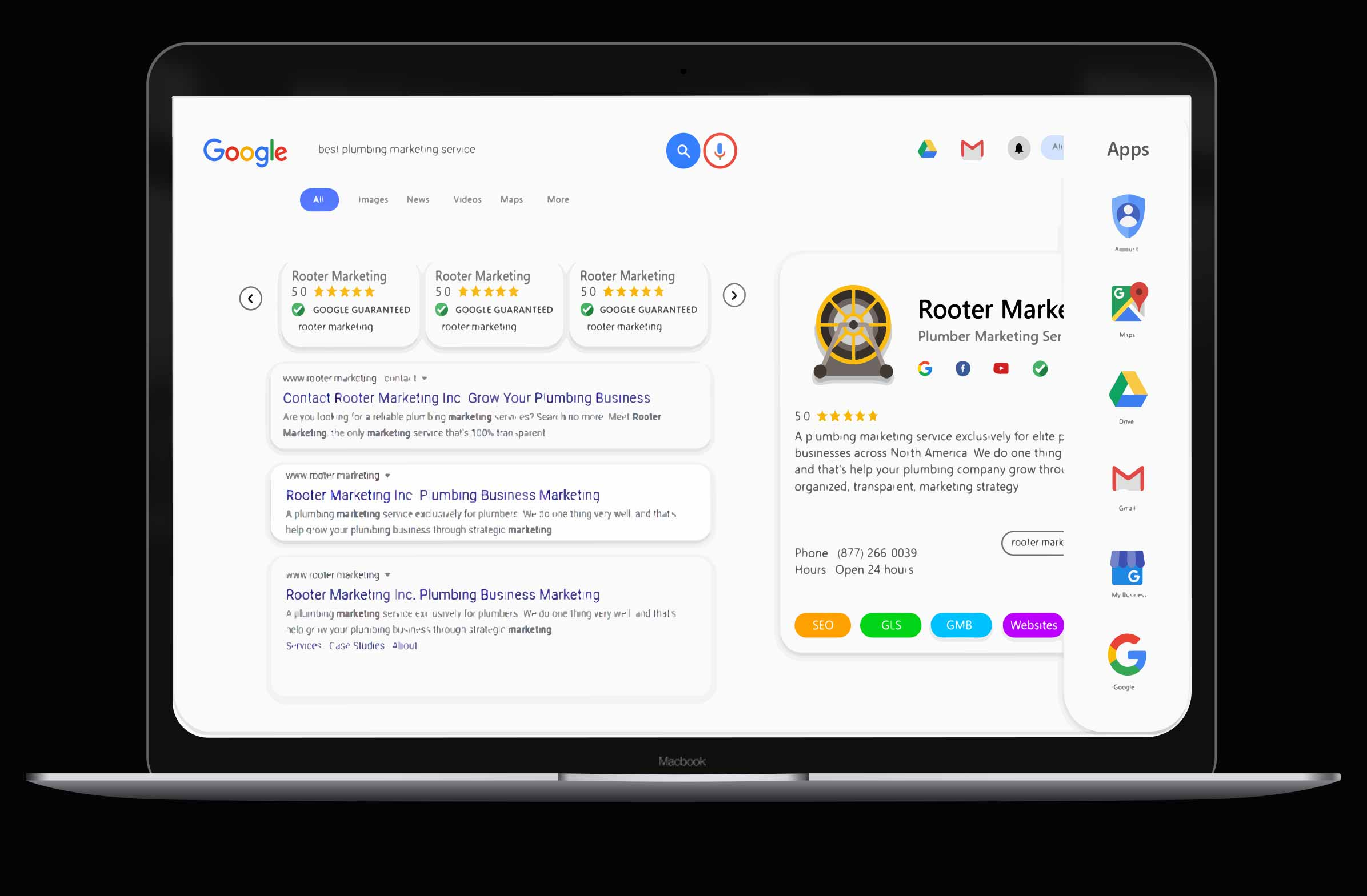 Rooter Marketing helps plumbing companies optimize their online presence and increase customer traffic to their plumbing website.
