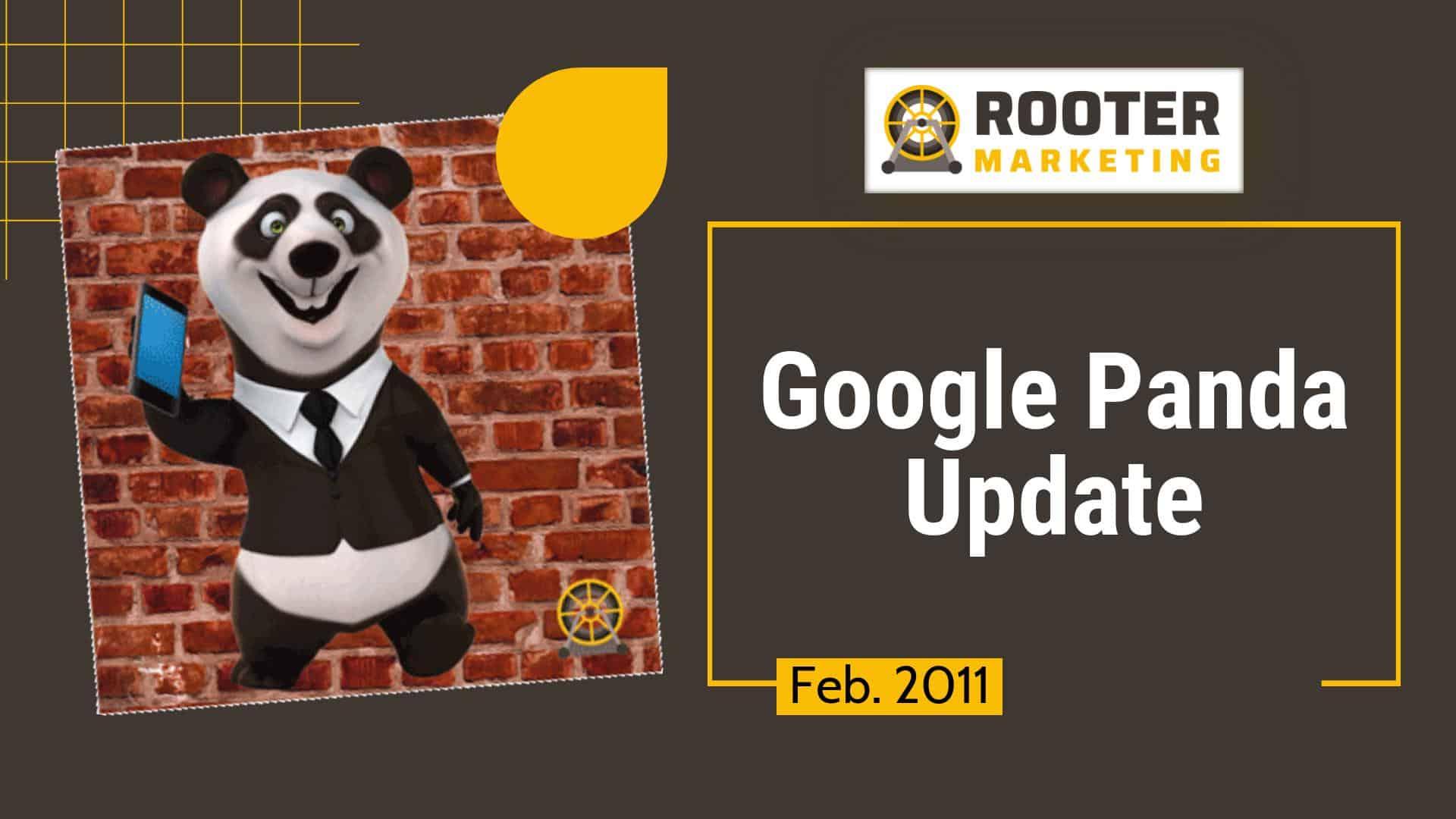 Google SEO Panda Update Rooter Marketing Plumbing SEO