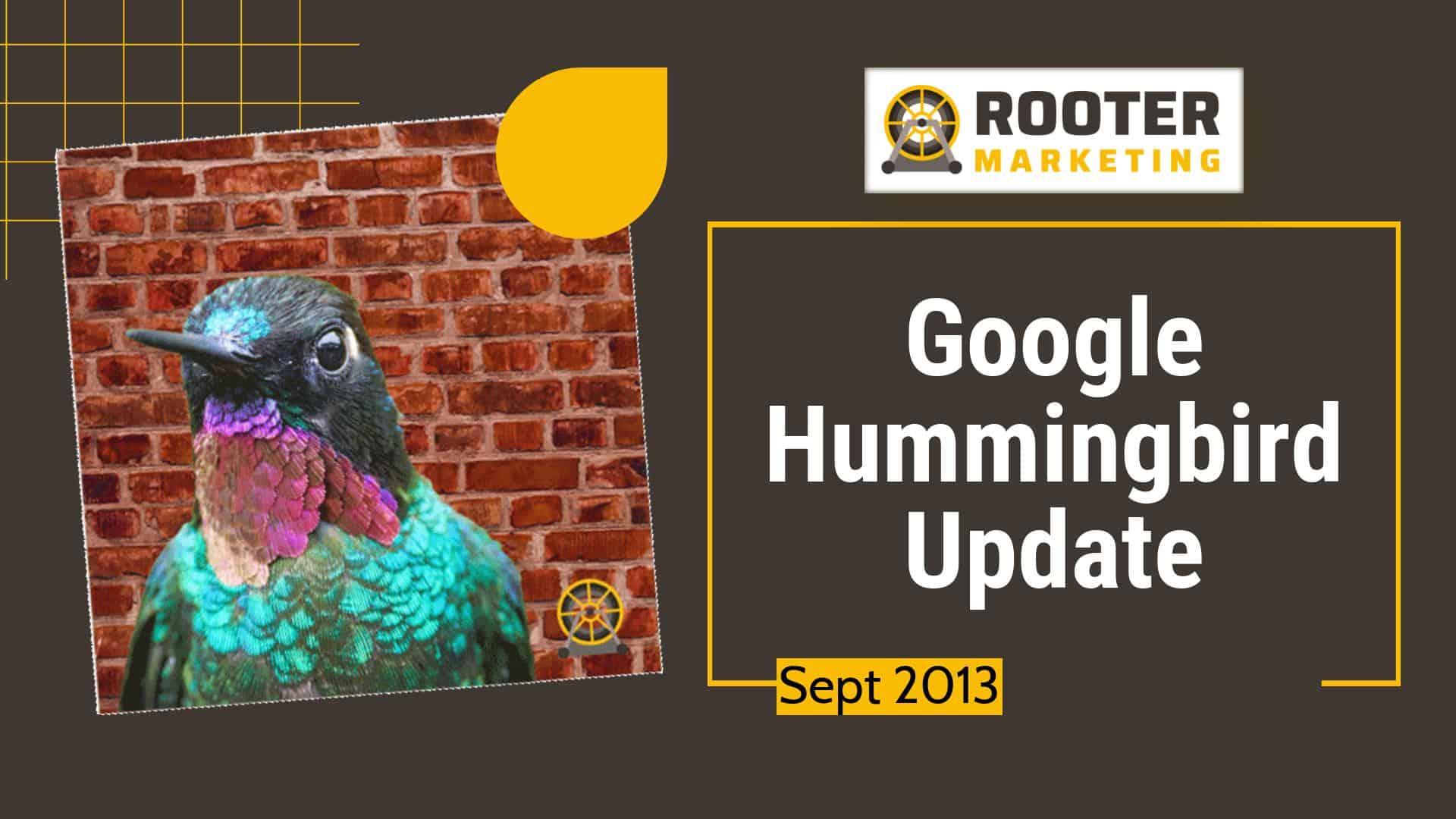 Google SEO Hummingbird Update Rooter Marketing Plumbing SEO