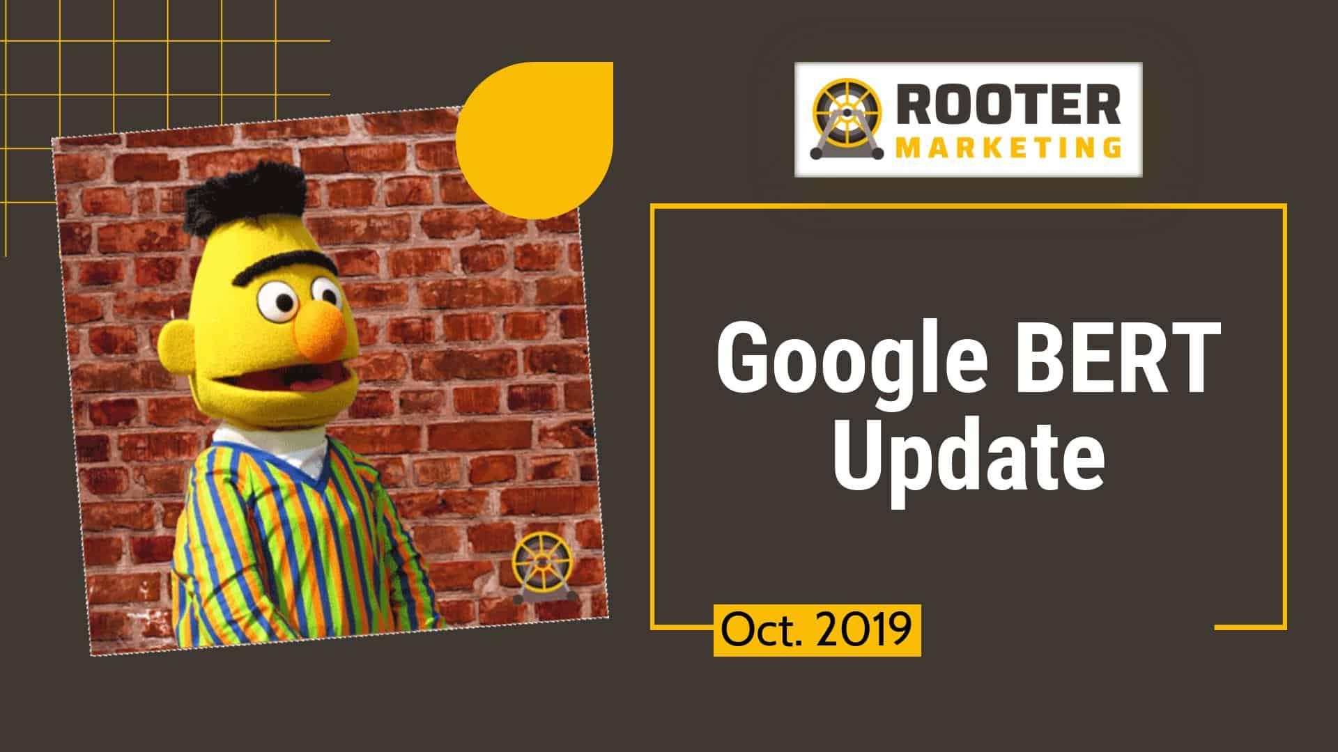 Google SEO BERT Update Rooter Marketing Plumbing SEO