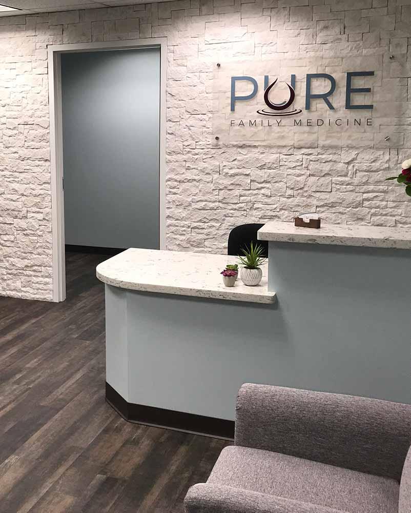 Pure Family Medicine Lobby