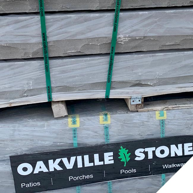 Oakville stone on palette