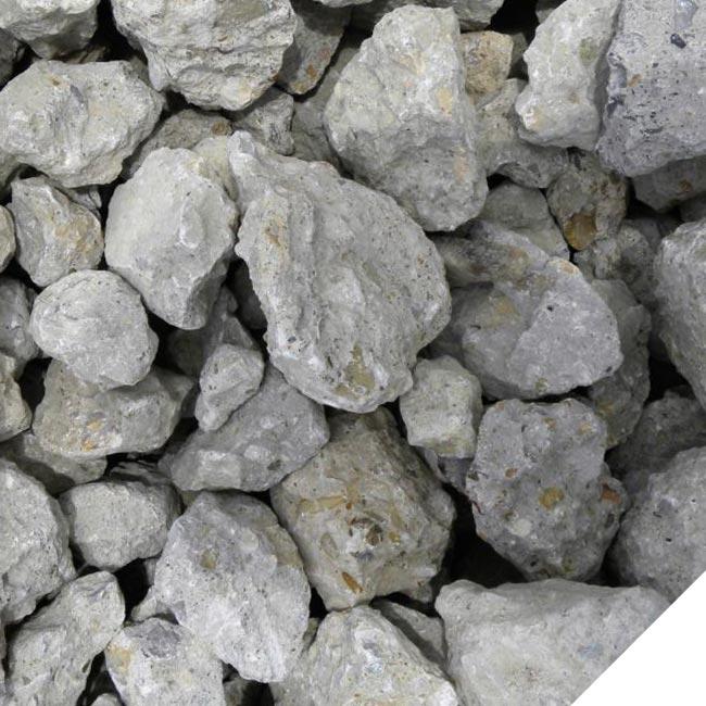 Small crushed limestone