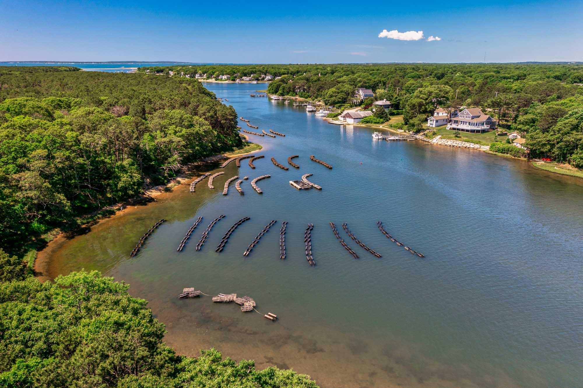 Cape Cod Oyster Company Aerial Falmouth