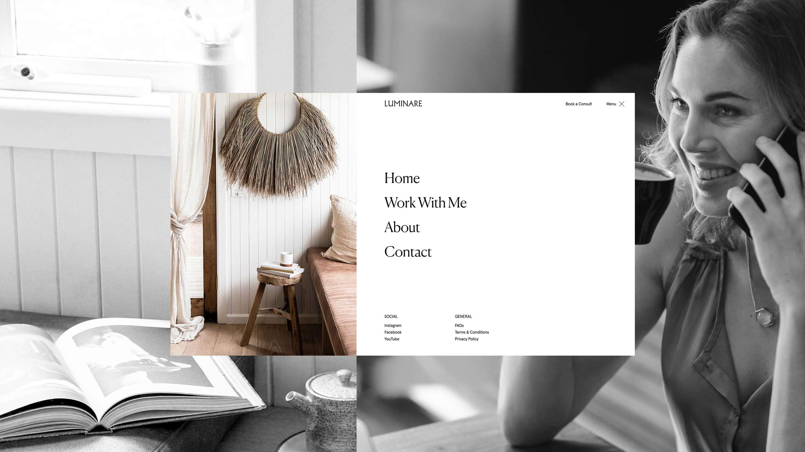 Luminare web design project