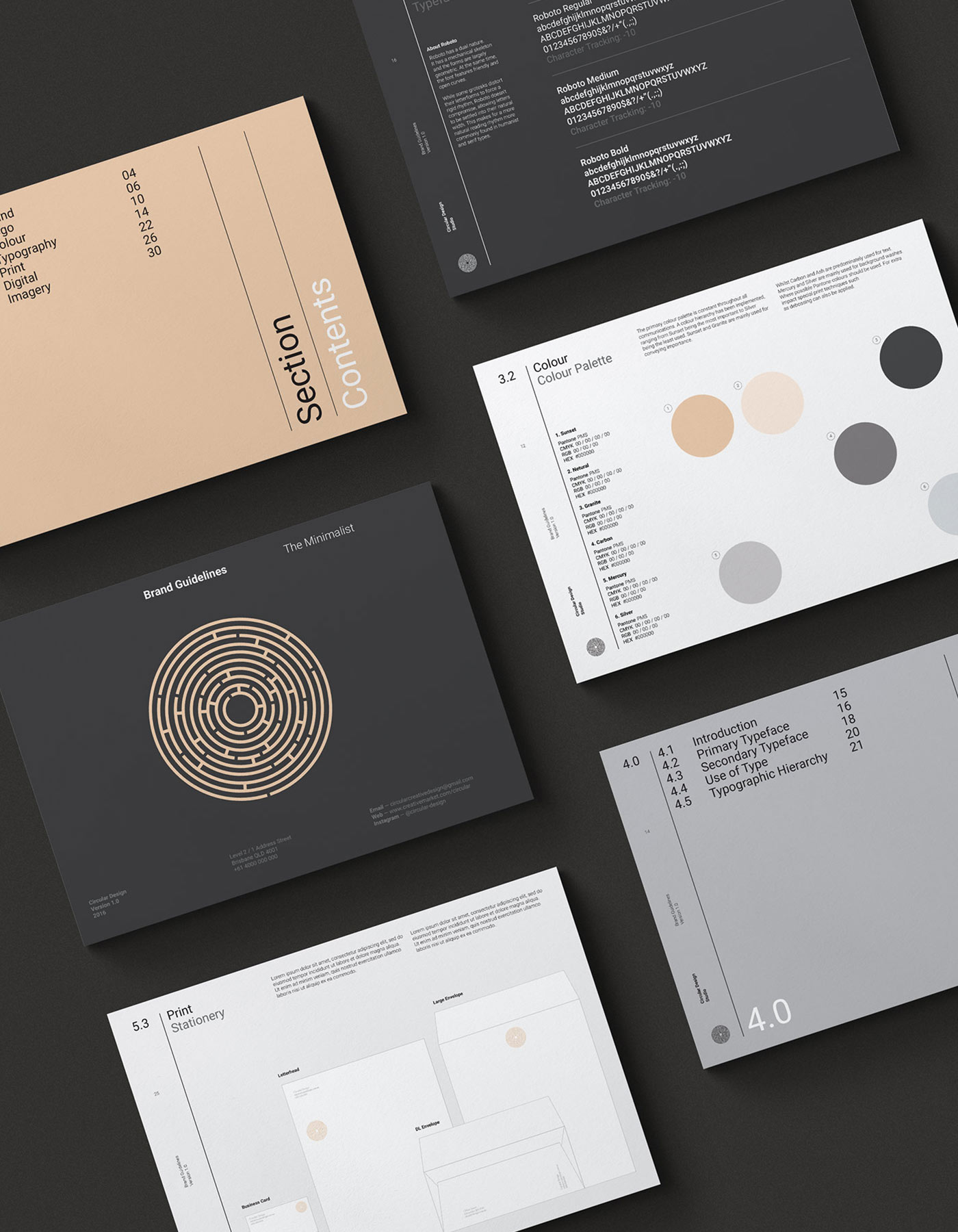 The Minimalist Brand Style Guide Template