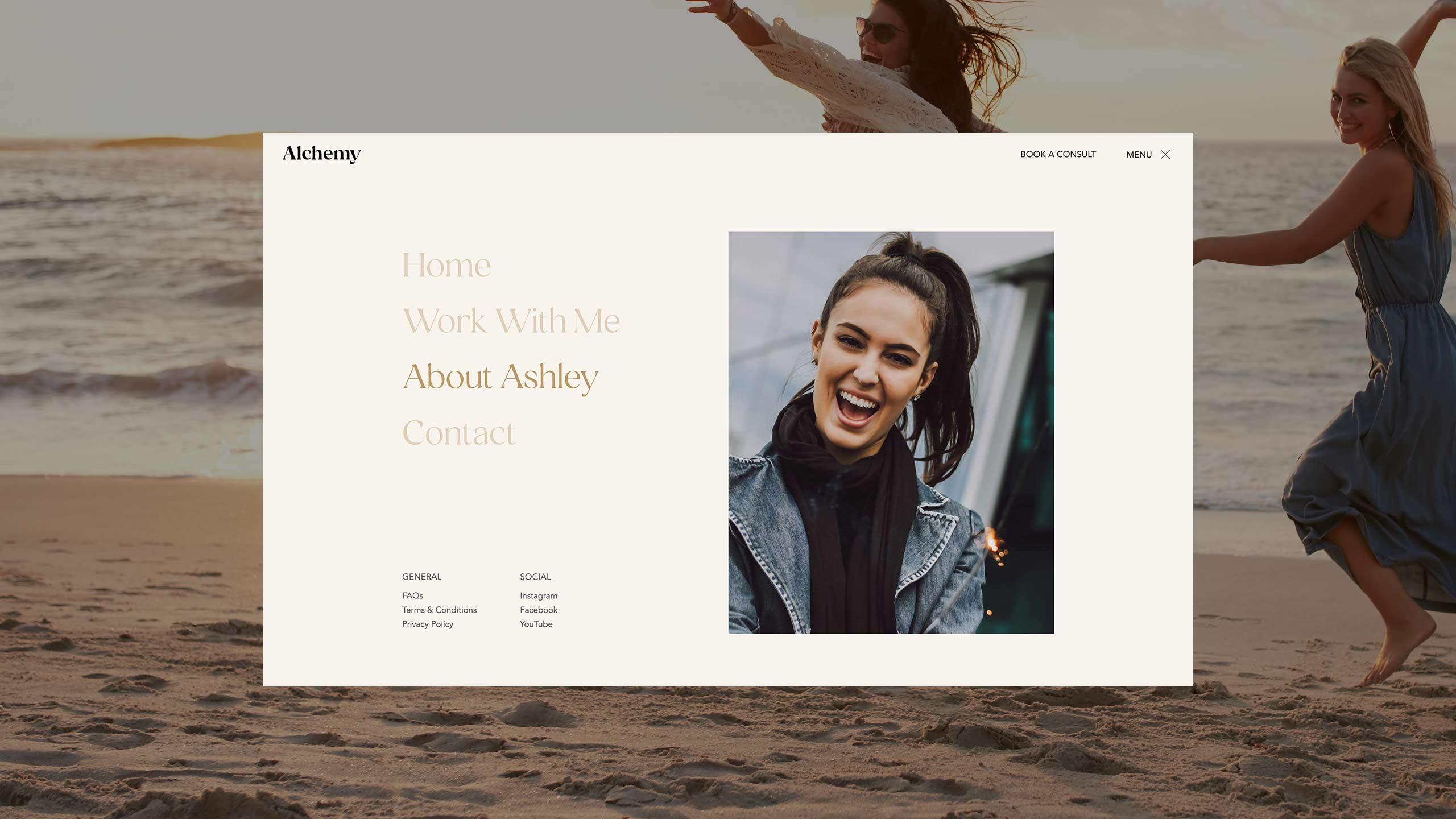 Screenshot of Alchemy Web Design project.