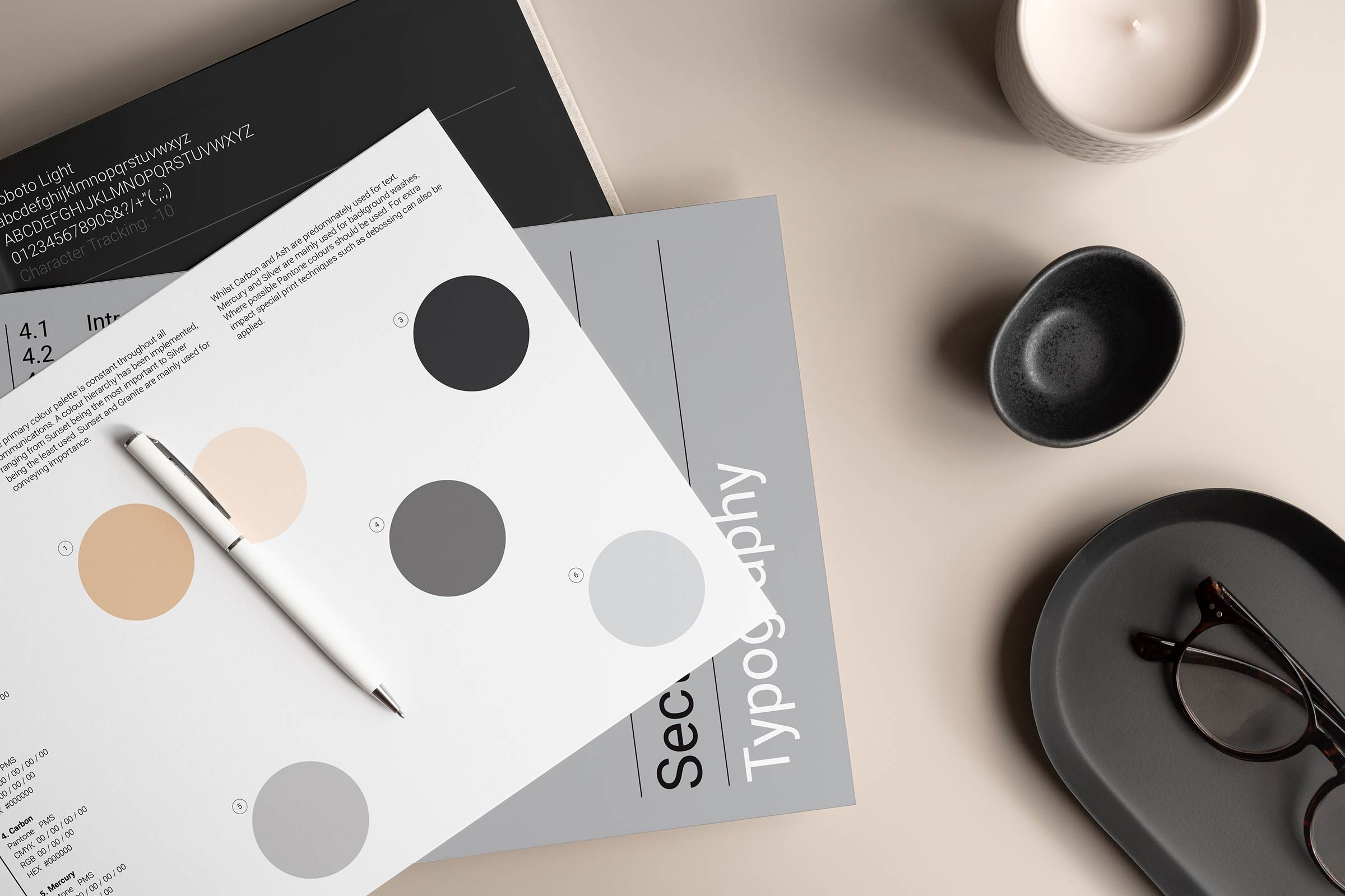 The Minimalist Brand Style Guide Adobe InDesign Template