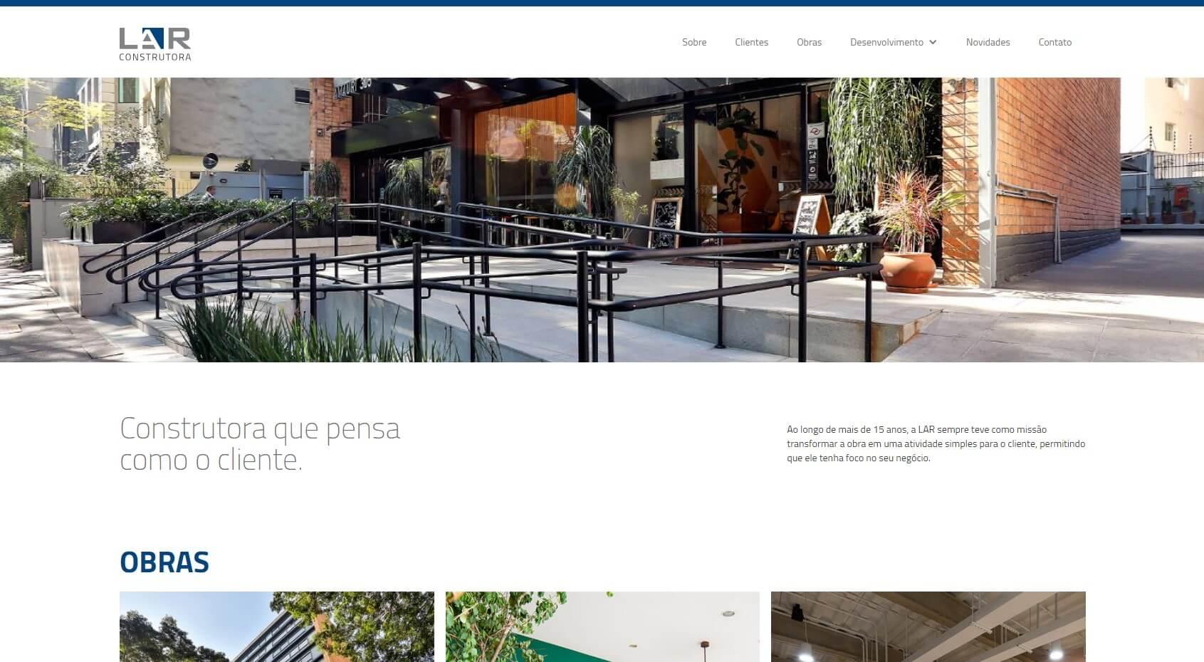 Site LAR Construtora