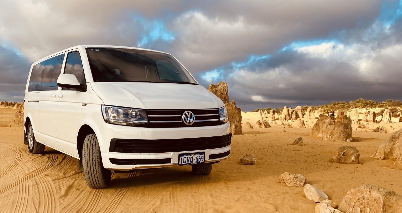 VW van in Australian landscape