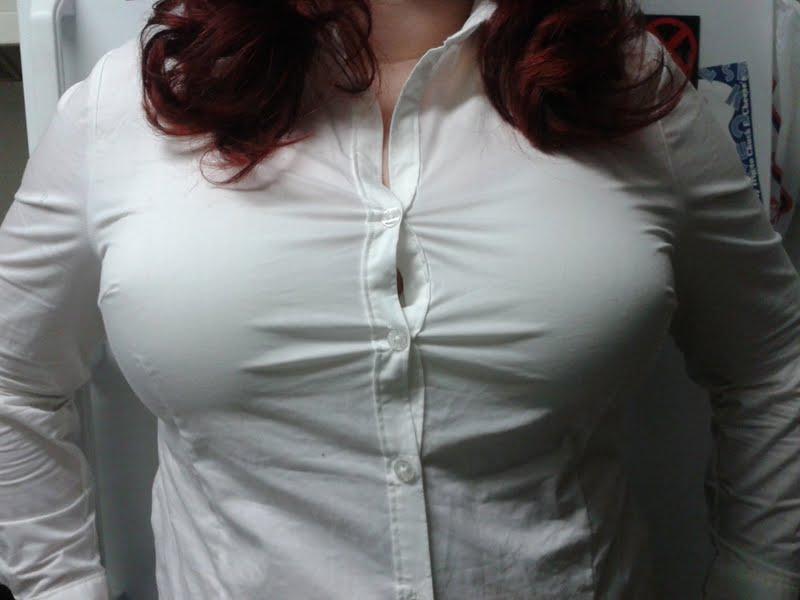 Big boob shirt problems