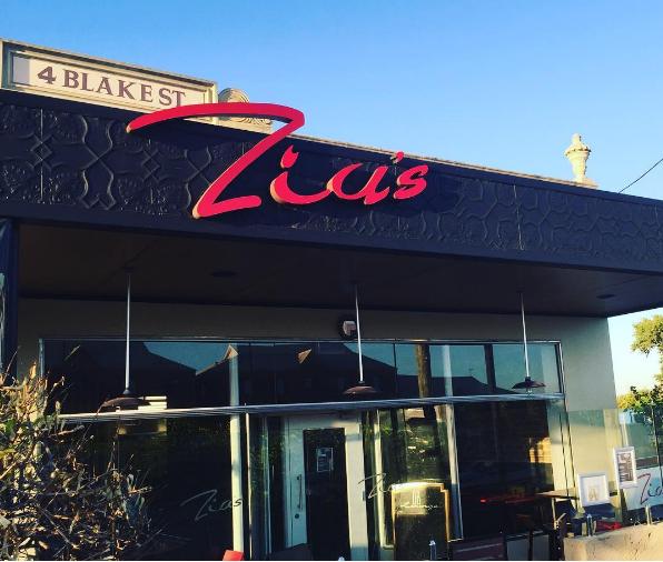 Zia's café bar and restaurant