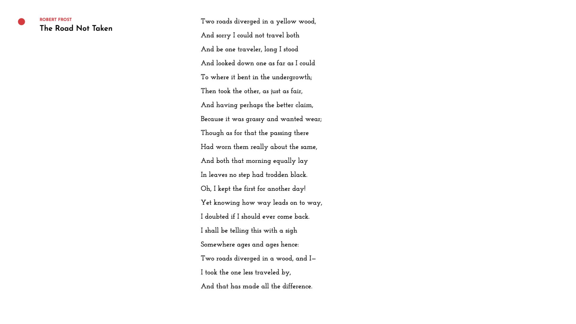 The Poet I