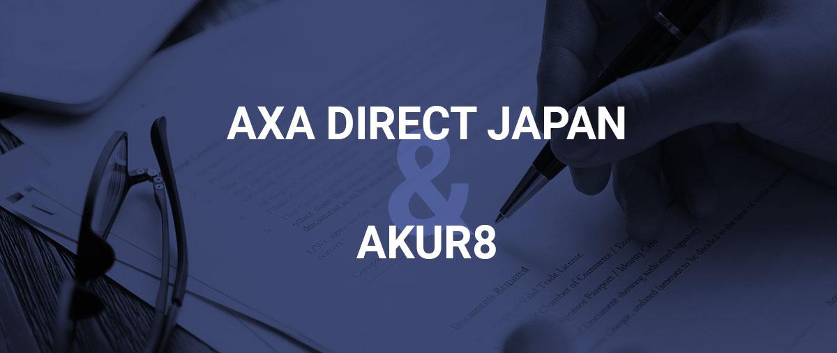 Akur8 partnership with AXA Direct Japan