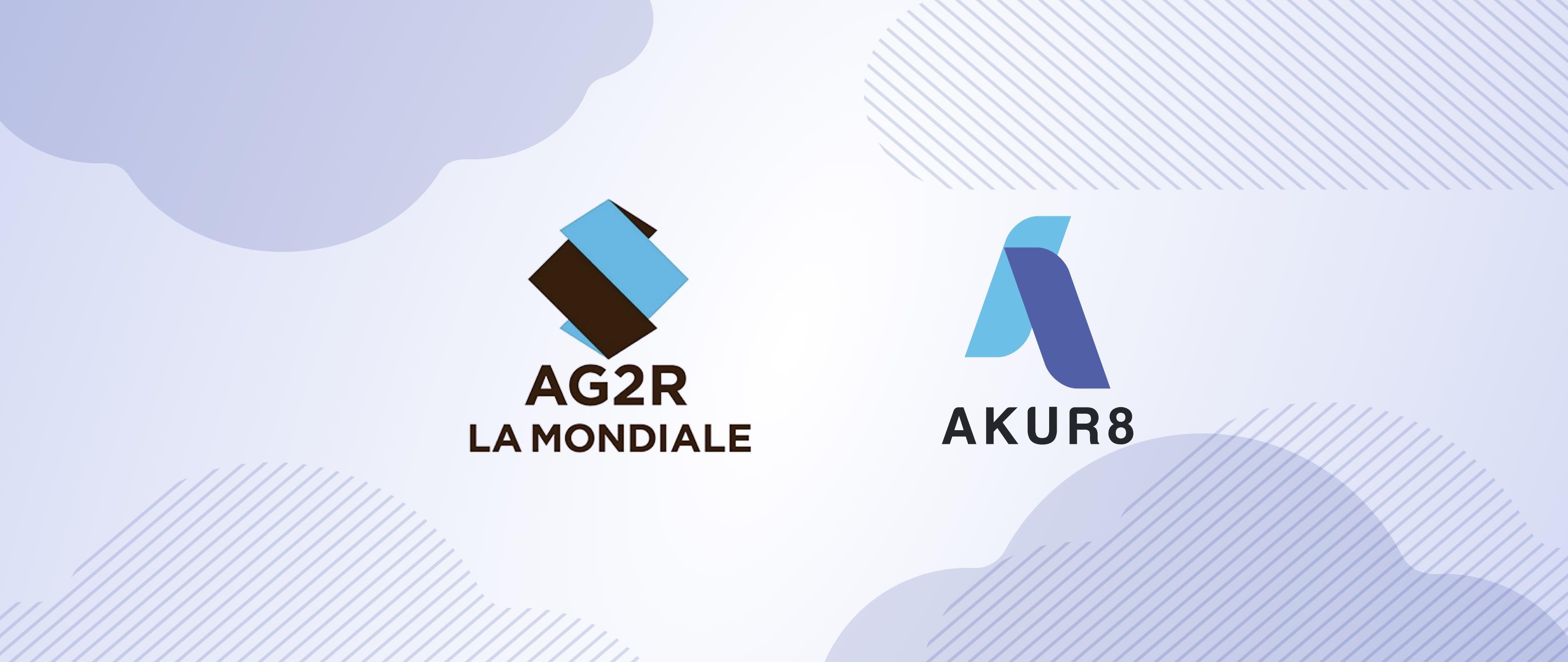 AG2R and Akur8's logos