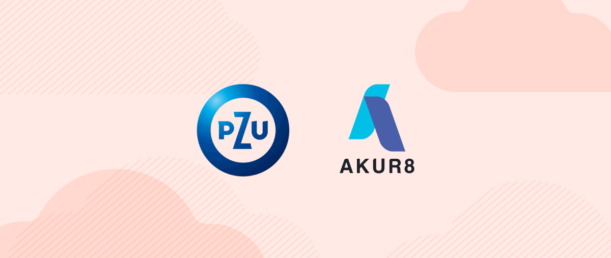Logos of PZU and Akur8