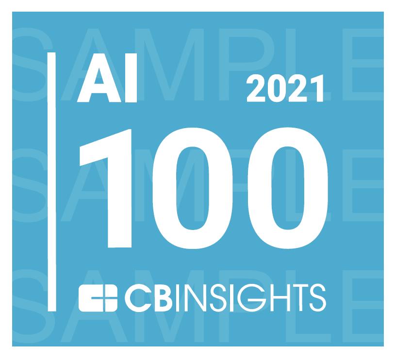 Award logo: AI 100 CB Insights 2021