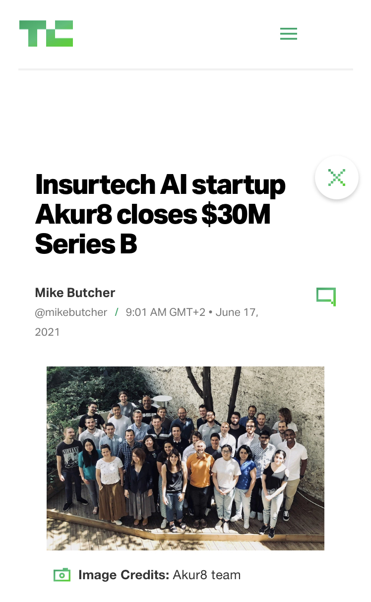 Link to the Tech Crunch article about the Series B fundraising