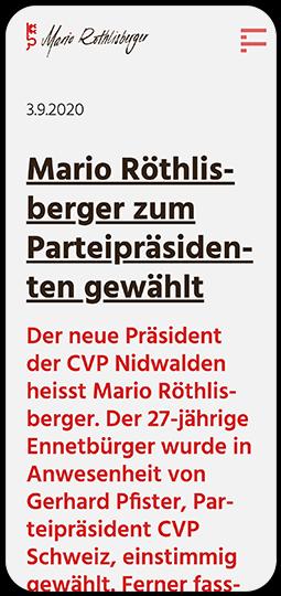 Screenshot der Website www.marioroethlisberger.ch