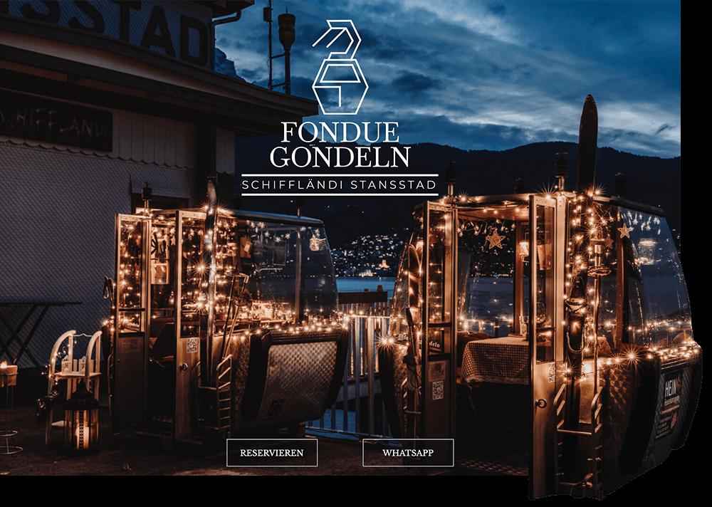 Veranschaulichung der Website Restaurant Fonduegondeln Stansstad