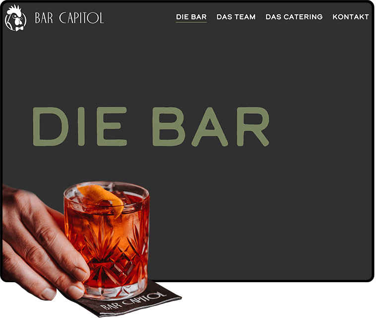 Veranschaulichung Website Bar Capitol Luzern