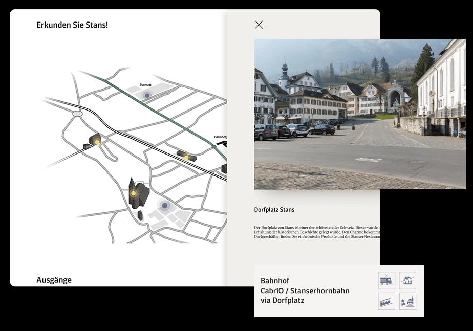 Veranschaulichung Website Bahnhofparking Stans