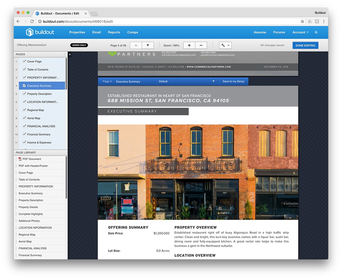 You can also choose from a selection of layouts to change the arrangement of any page.