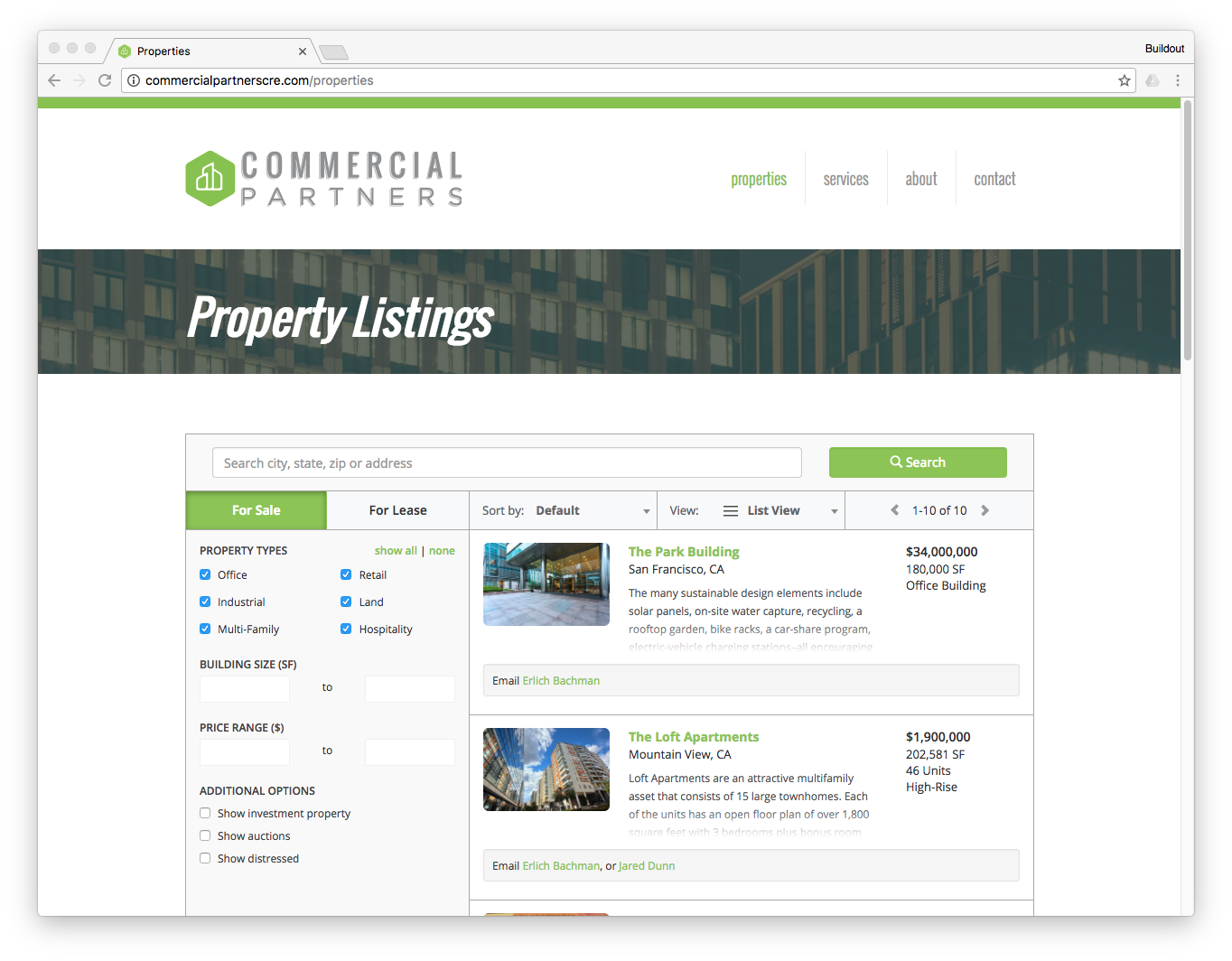 Add Buildout listing plugin to your website to make all of your properties easily searchable.