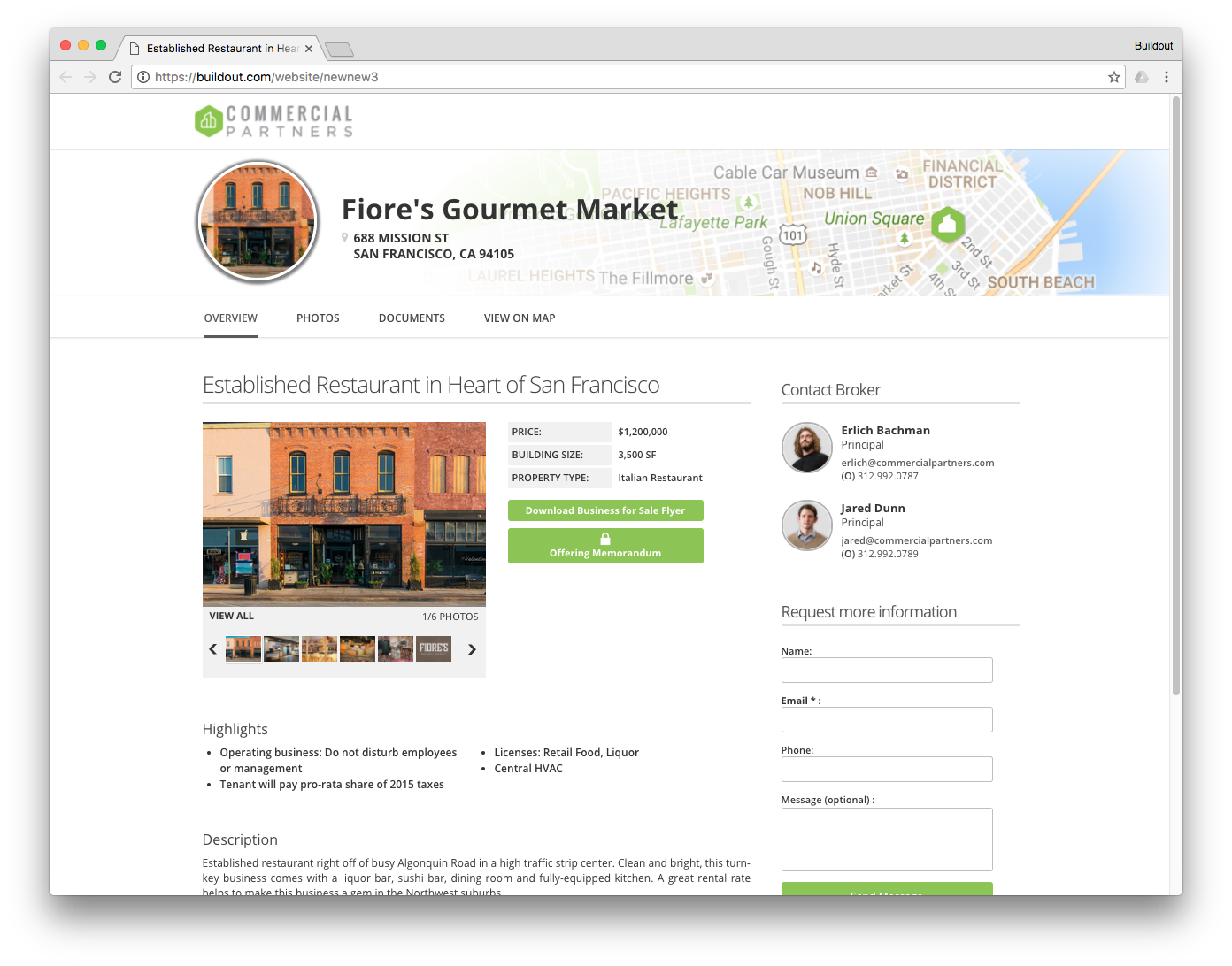 Each property you add in Buildout generates an individual property website so you can digitally showcase all your listings.