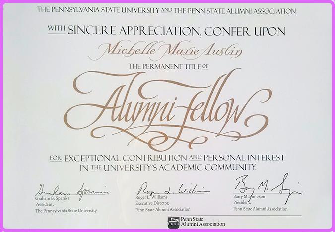 Michelle Austin Penn State Alumni Fellowship Award
