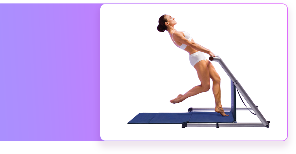 Woman on Fluidity Barre