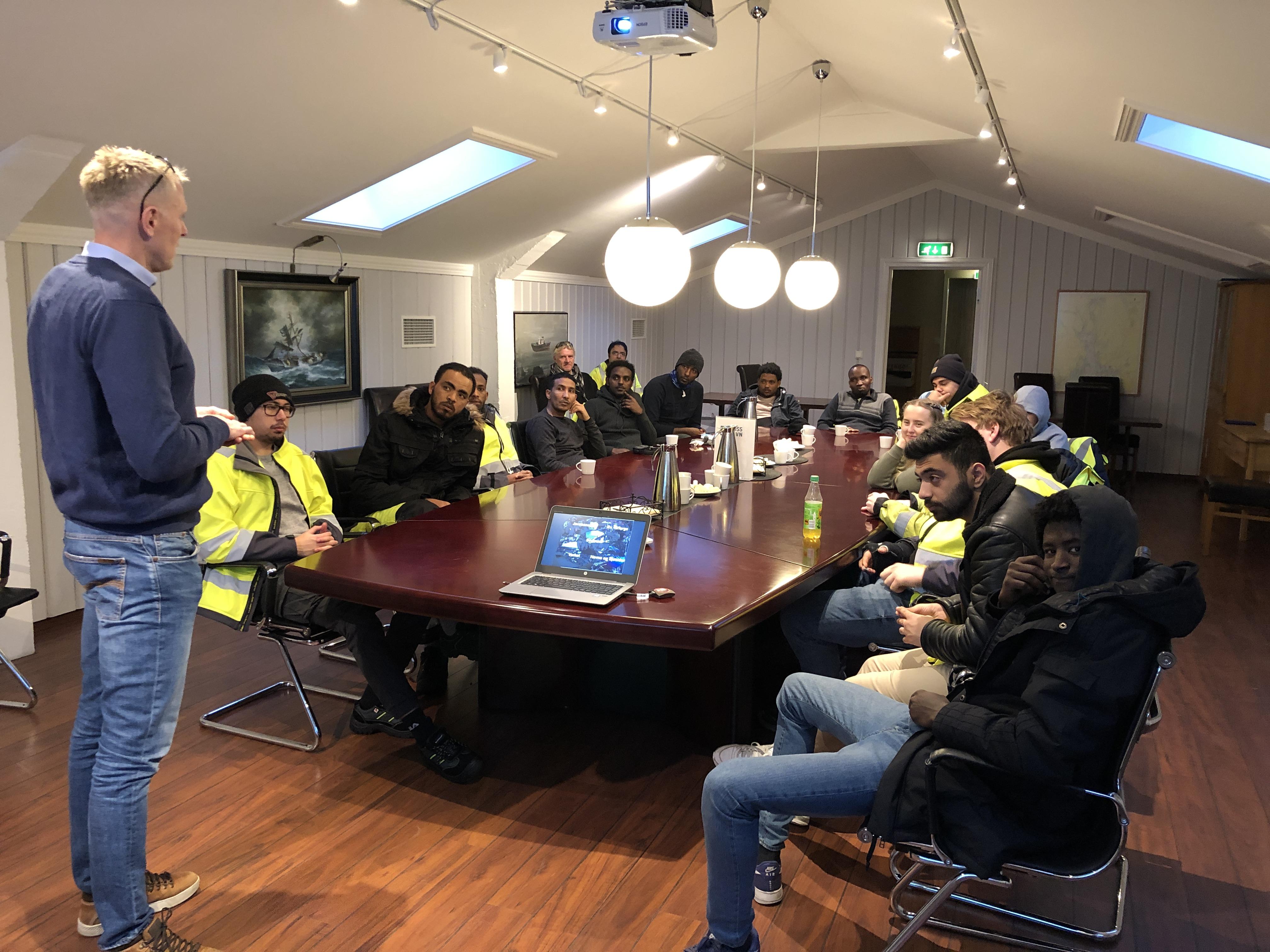 Moss Havn fikk besøk fra Vestby videregående skole