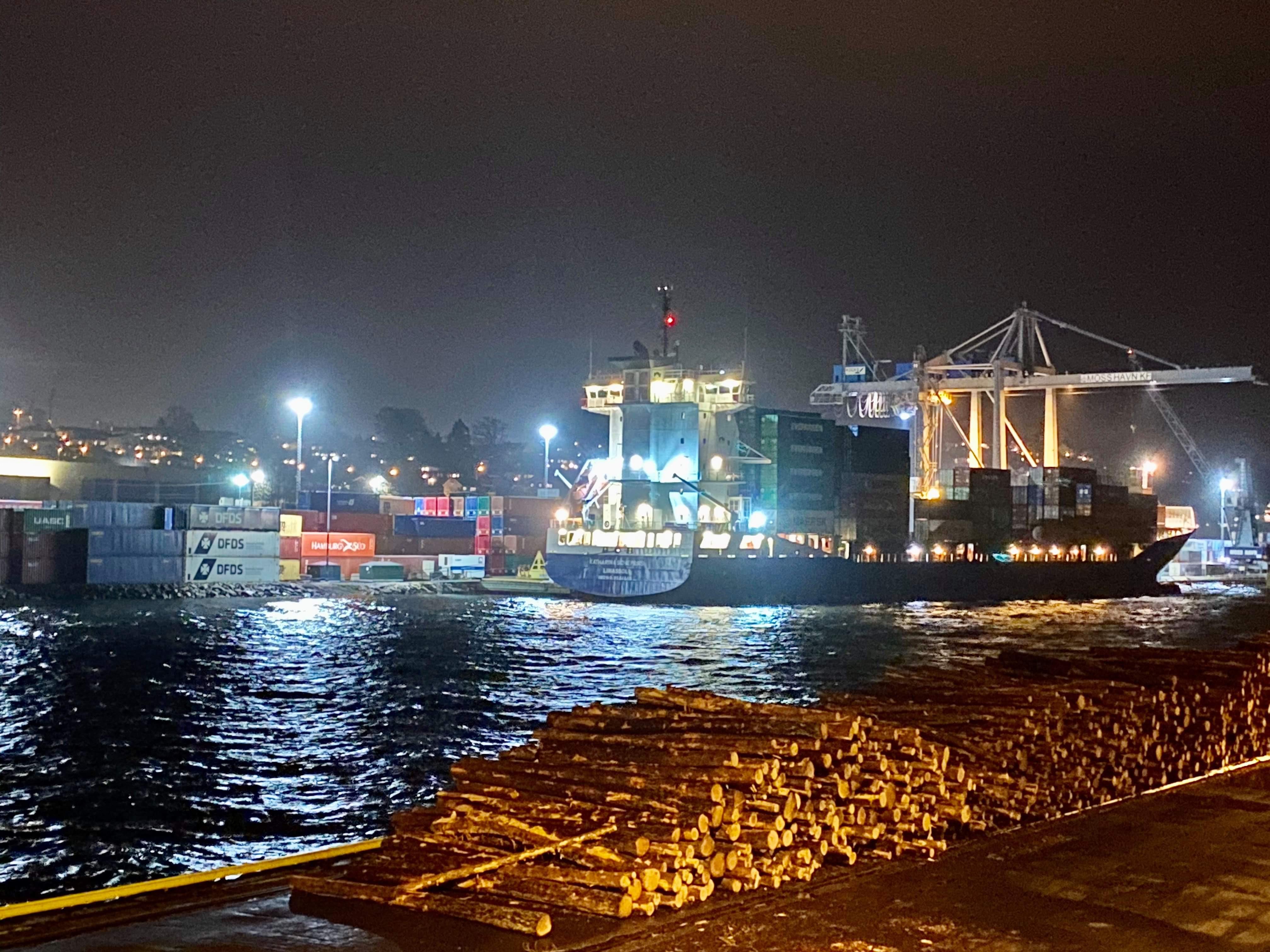 Dynamisk lys-styring i Moss Havn
