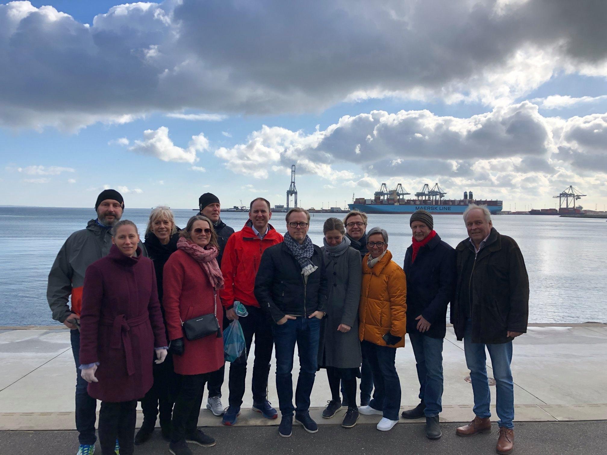 Moss Havn på studietur til Aarhus, Danmark