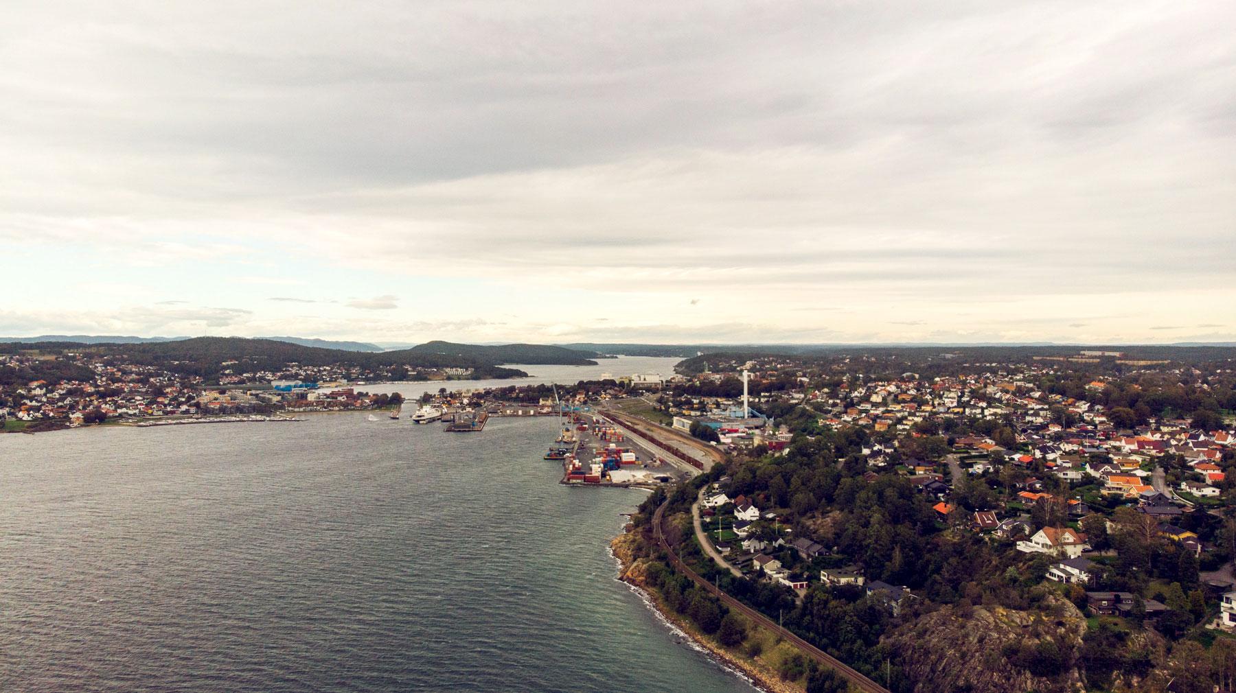 Moss havn merker også koronskrisen