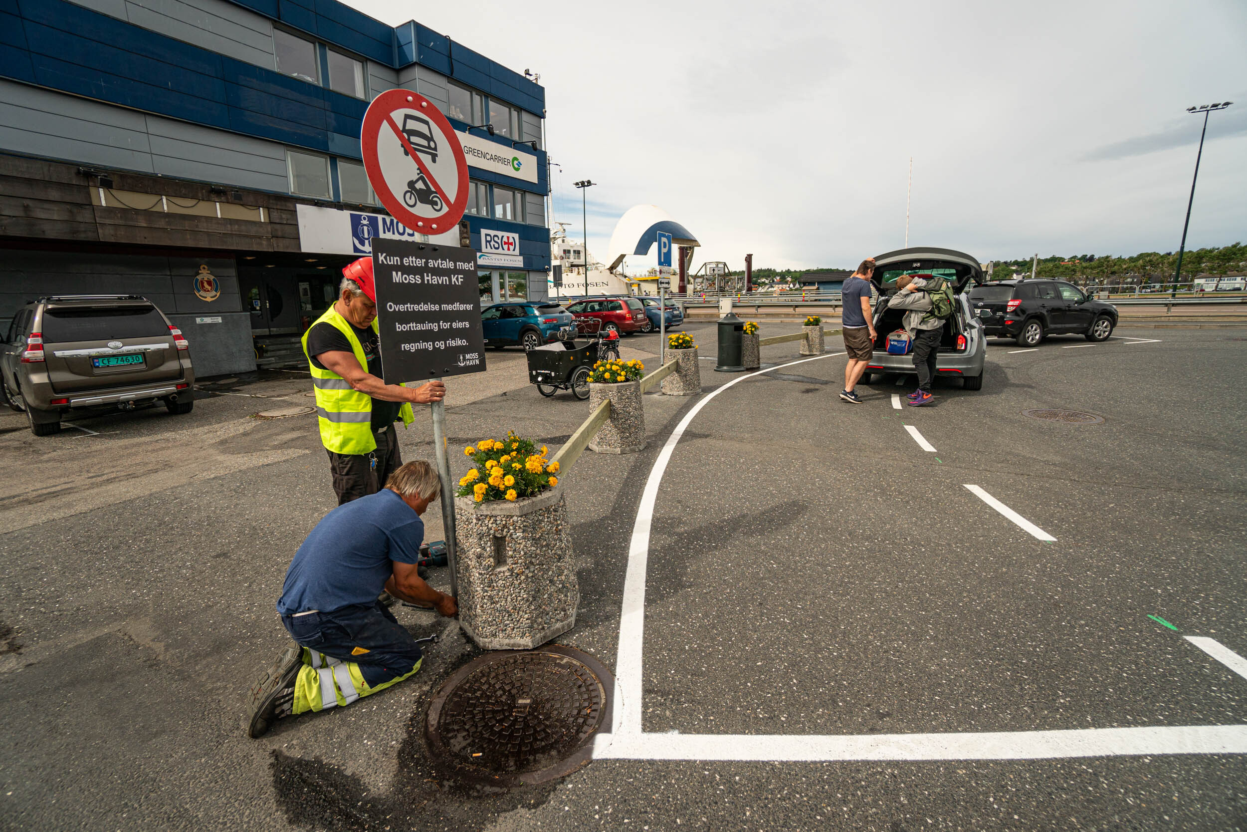 Nytt kjøremønster ved havnekontoret til Moss Havn.