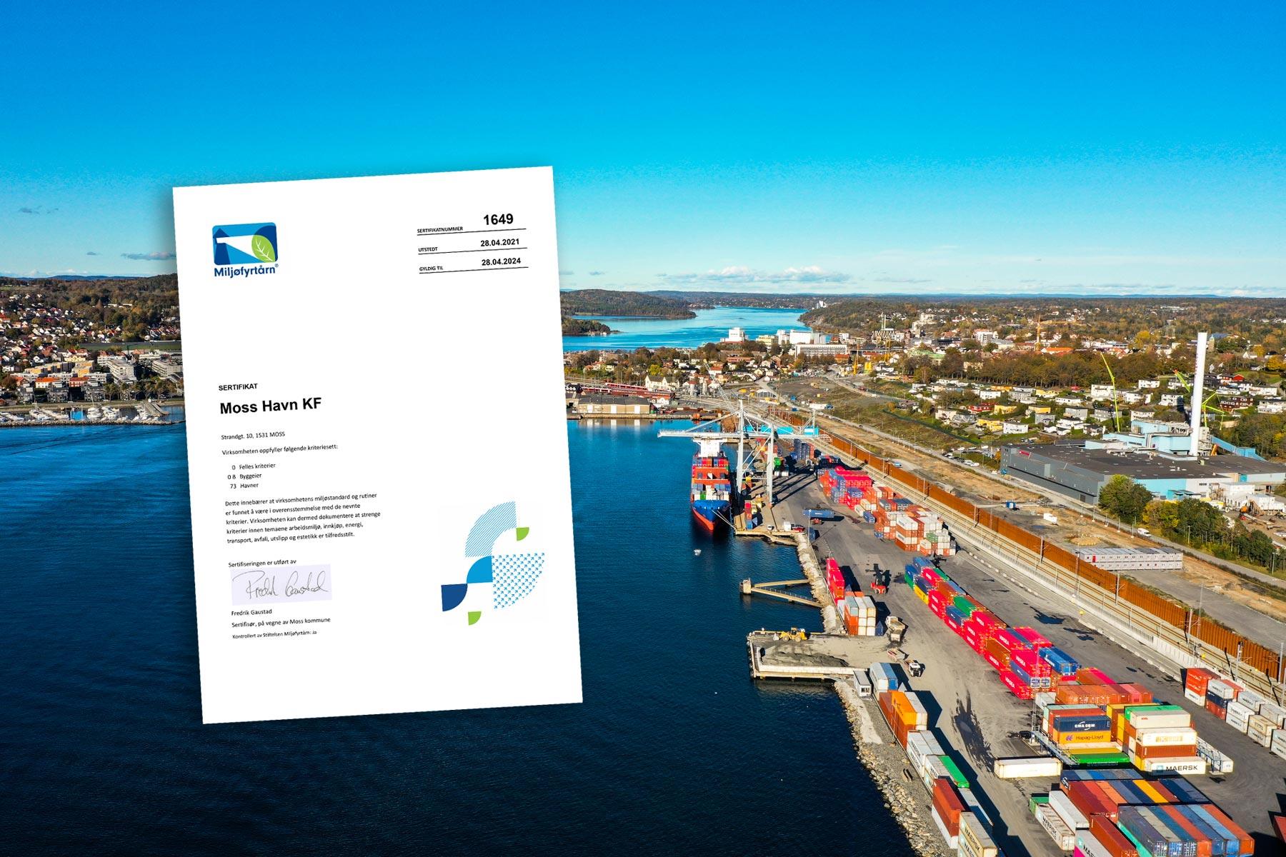 Moss-havn-miljøfyrtårn